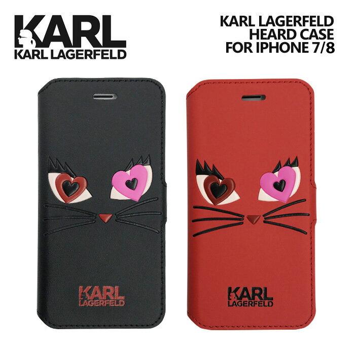 a424b726ed KARL iPhone8 iPhone7 アイフォン8 アイフォン7 ケース 手帳型 ケース【 ねこ 猫 シュペット