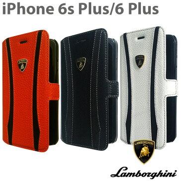 【SALE】ランボルギーニ・公式ライセンス品 iPhone 6 plus iPhone6sPlus ケース 手帳型 【 本革 が上品な アイフォン 6sプラス 6プラスケース レザー ブックタイプ iPhoneケース スマホケース かっこいい メンズ シンプル ブランド ロゴ 】 送料無料 LB-SSHFCIP6L-ET-D1
