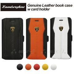 iphone6 本革 ケース 手帳型 横開き レザー カバー ランボルギーニ 公式ライセンス品 アイフォン6 専用 [Genuine Leather Book Case W/Card Holder] 【あす楽対応】【送料無料】