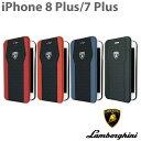 ランボルギーニ・公式ライセンス品 iPhone8Plus iPhone7Plus 手帳型 【 本革 アイフォン8プラ……
