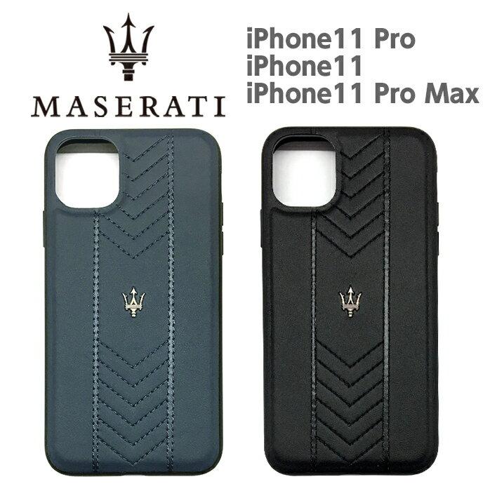 MASERATI マセラティ 公式ライセンス品 iPhone11Pro iPhone11 iPhone11ProMax 本革 背面ケース ケース バックカバー iPhone11 シンプル かっこいい メンズ カーブランド ブランド ビジネス 上質 エンブレム 送料無料