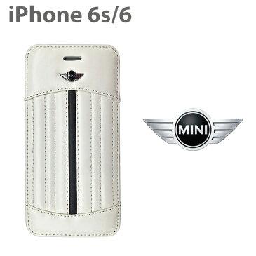 【SALE】MINI(ミニ)公式ライセンス品 iPhone6s iPhone6 ソフトレザー 手帳型 ケース MNFLBKP6SS アイフォン6s アイフォン6 ラインがかっこいい おしゃれなiPhoneケース アイフォンカバー 【送料無料】【あす楽対応】