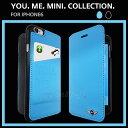 iPhone6 ソフトレザー 手帳型 ケース ブランド MINI(ミニ)公式ライセンス品 ブックタイプ 革 ICカードホルダー付 [PU Leather Booktype You Me Mini] MNFLBKP6YMM アイフォン6 4.7inch【あす楽対応】