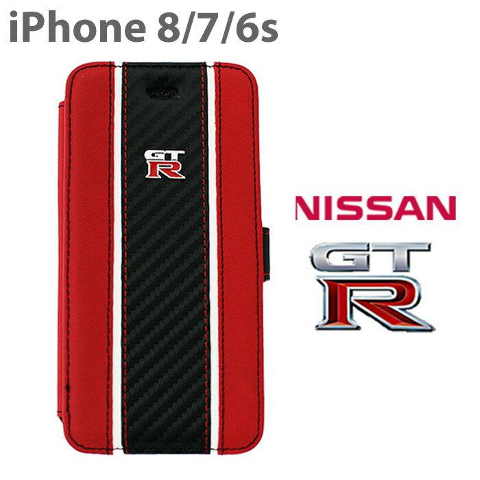 2636adc387 日産GT-R・公式ライセンス品 iPhone8 7 6s 手帳型ケース 【本