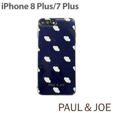 PAUL&JOE・公式ライセンス品 iphone7Plus/iphone8Plus ケース 背面 5.5 inch PAUL & JOE ポール アンド ジョー TPU ユニセックス 雲 くも アイコン フラット 女性 コスメ かわいい 女性向け ギフト アイフォン7プラス ポールアンドジョー セミハード ハードケース