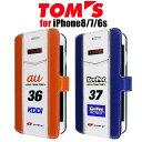 【SALE】TOM'S トムス・ 公式ライセンス品 iPhone8 iPhone7 iPhone6s 専用PUレザー 手帳……
