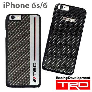 【SALE】TRD 公式ライセンス品 iPhone6s iPhone6 (4.7inch) 専用 背面ケース メタル & カーボン 調 カバー バックカバータイプ サーキット 車 かっこいい 男性向け ケース ハード TOYOTA トヨタ TOYOTA アイフォン6ケース 送料無料 あす楽対応