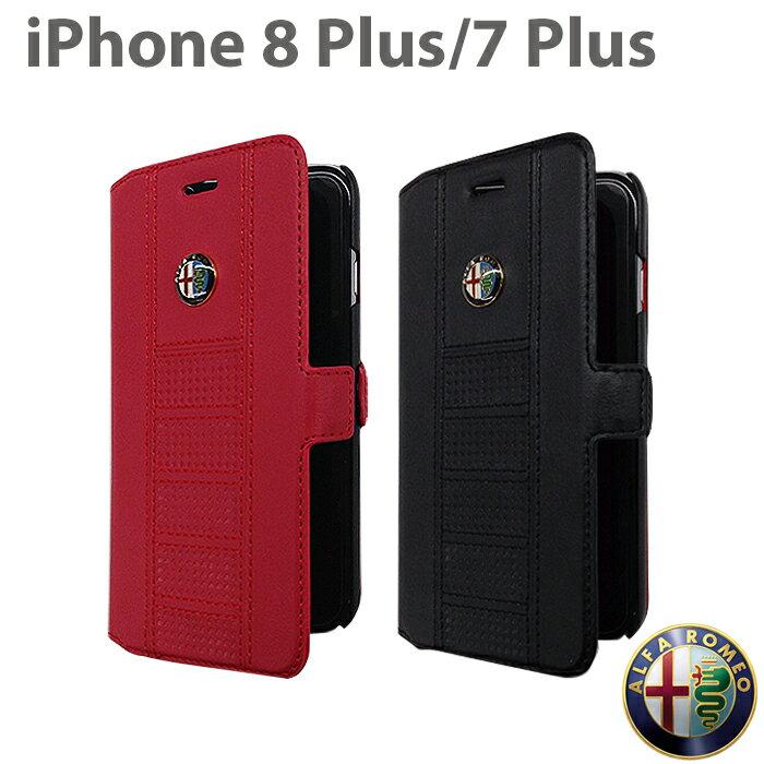 2d25ca4a1d アルファロメオ・公式ライセンス品 iPhone8Plus iPhone7Plus 手帳型 アイフォン8プラス アイフォン7プラス