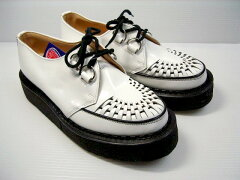 GEORGE COX ジョージコックス 3588 WHITE LEATHER (BLACK SOLE)