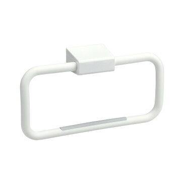 【送料無料】タオルリング(ピン) ホワイト B00045 (タオル掛け)【石こうボード壁に最適!タオルリング】
