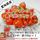 送料無料!!愛知県産トマト食べ比べセットとまとミニトマト大玉トマトあいこカンパリ桃太郎トマト