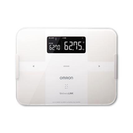 【オムロン】体重体組成計 HBF-252F-W ホワイト カラダスキャン 体重計 在庫限り