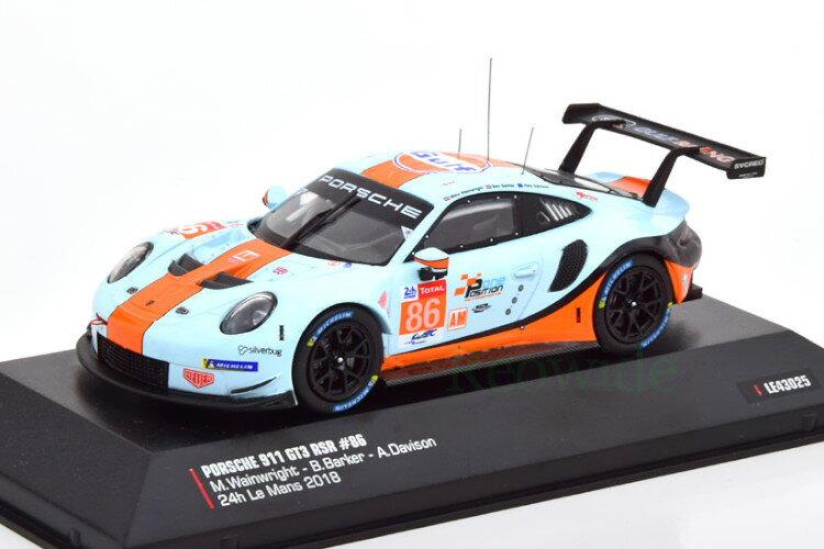車, ミニカー・トイカー  143 911 991 GT3 RSR 86 24 2018 Ixo 1:43 Porsche 911 991 GT3 RSR No 86 24h Le Mans 2018 Gulf WainwrightBarkerDavison