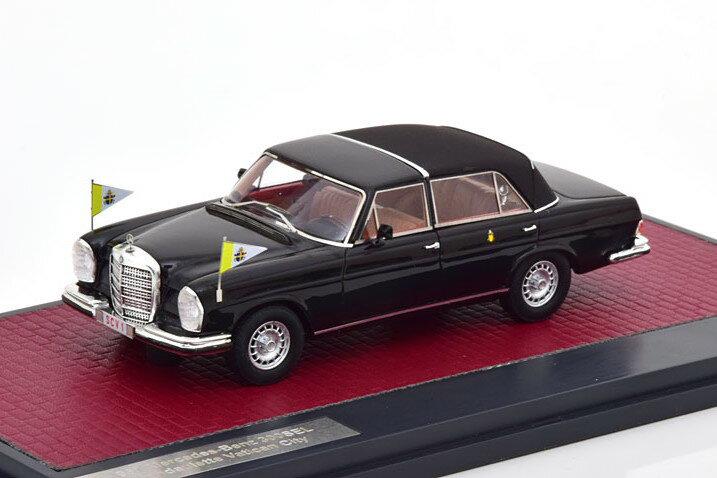 車, ミニカー・トイカー Matrix 143 300SEL 1967 408 Mercedes Landaulette Vatikan City black Limited Edition 408 pcs