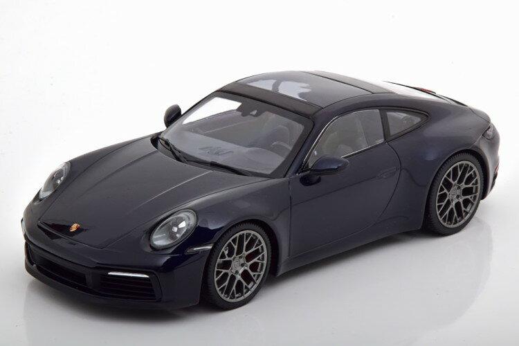 車, ミニカー・トイカー  118 911 992 4S 2019 336 Porsche Carrera Coupe darkblue-metallic
