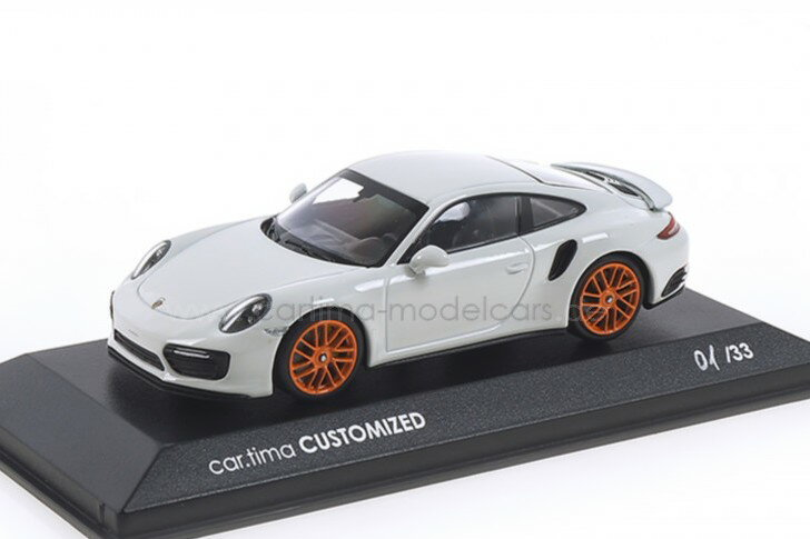 車, ミニカー・トイカー  143 911 (991 2) S 33 Minichamps 1:43 Porsche 911 (991 II) Turbo S whiteorange wheel Limited Edition 33 pcs
