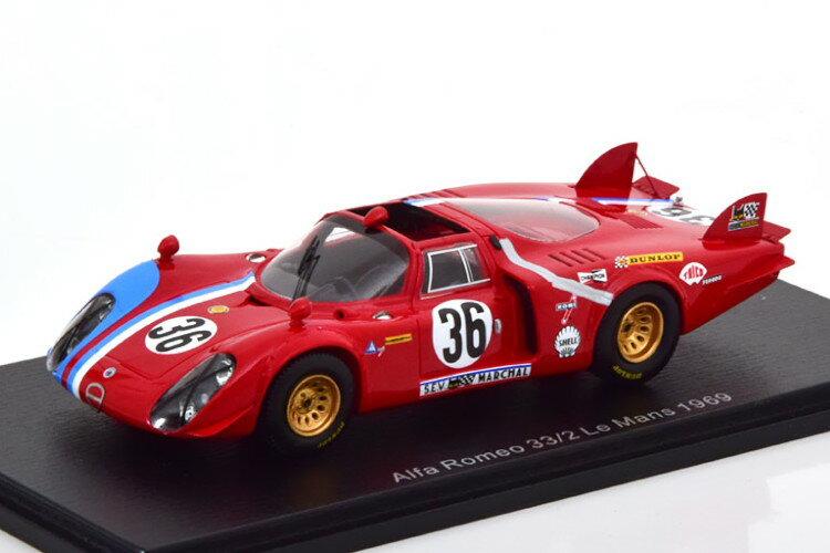 車, ミニカー・トイカー  143 T332 36 24 GosselinBourgoignie 1969 Spark 1:43 Alfa Romeo T332 No 36 24h Le Mans 1969 GosselinBourgoignie RED