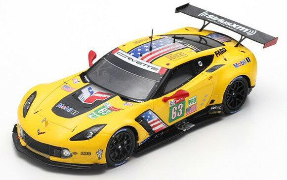 車, ミニカー・トイカー  143 C7 R 63 24 2019 Spark 1:43 Chevrolet Corvette C7.R No 63 24h Le Mans 2019 MagnussenGarciaRocke yellow