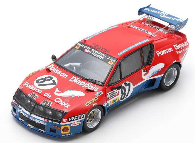 車, ミニカー・トイカー  143 A310 87 24 1977 Spark 1:43 Renault Alpine A310 No 87 24h Le Mans 1977 TherierDecureCochise redblue