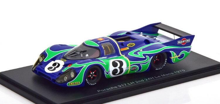車, ミニカー・トイカー  143 917 KH 3 24 1970 Spark 1:43 Porsche 917 LH 3 24h Le Mans 1970 blue green