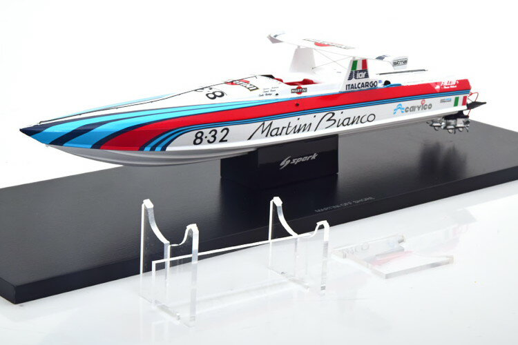 車, ミニカー・トイカー  143 Spark 1:43 Martini Off Shore Boot white red blue
