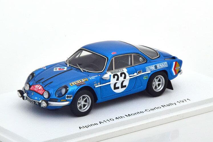 車, ミニカー・トイカー  143 A110 22 1971 Spark 1:43 Renault Alpine A110 22 Rally Monte Carlo 1971 AndruetVial