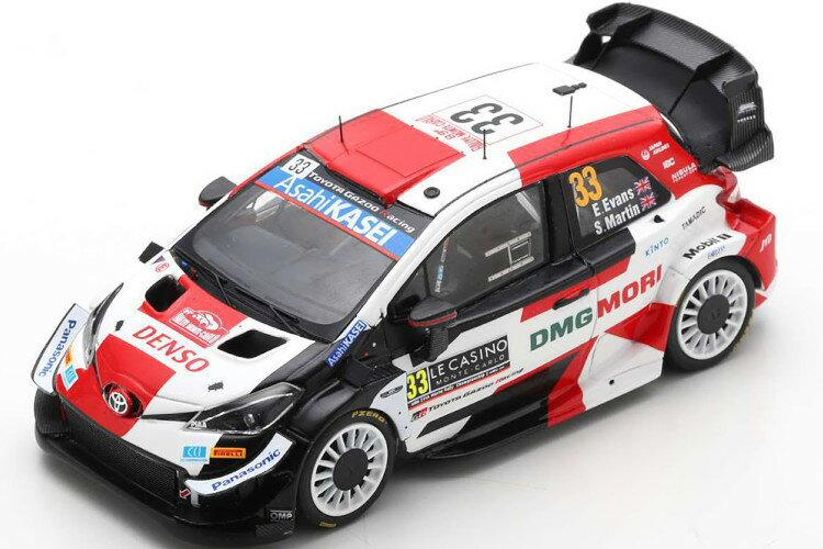 車, ミニカー・トイカー  143 WRC 33 2021 Spark 1:43 Toyota Yaris WRC No 33 Rally Monte Carlo 2021 Evans Martin