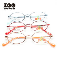 [M]【キッズ用メガネ】度付きメガネセット乱視度なし対応メタルフレームオーバル型子供用【Kid'sWorld-キッズワールド7021】【送料無料】【オマケ付(1発送につき1つ)】