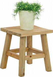 mokuシリーズ『木製フラワースタンド ロースクエア』【IT】カラー:ホワイト(#9847300)、ブ...