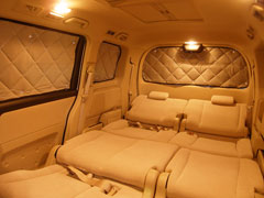 マルチシェード リアセットストリームRN6/RN7 H18.07 ~ 快適な車中泊/ぬくぬくカーテン/防寒/...