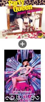 【オリコン加盟店】初回限定仕様[取]★透明スリーヴ仕様■浜崎あゆみ CD+2DVD【Party queen】12/3/21発売【楽ギフ_包装選択】