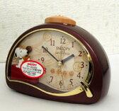 ■リズム時計 【スヌーピーめざまし時計】4SE506MJ09【楽ギフ_包装選択】