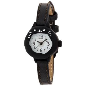 ■フィールドワーク 腕時計 ウォッチ【にゃん】黒ネコ ブラック ASS051G  [代引不可]【楽ギフ_包装選択】