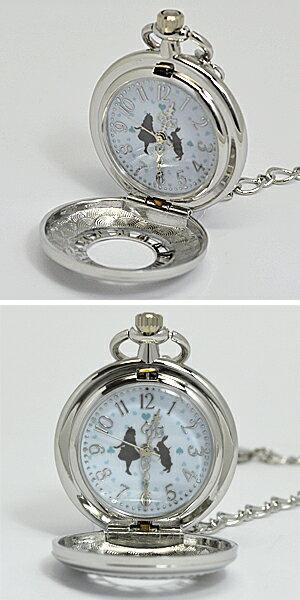 ■フィールドワーク【不思議の国のアリス】懐中時計 ウォッチ ラーンド シルバー ASS099-1 【楽ギフ_包装選択】