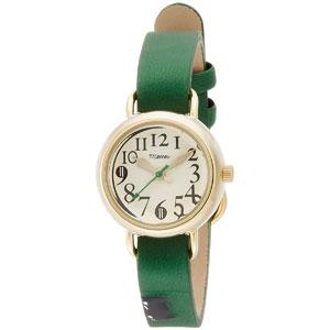 ■フィールドワーク 腕時計 ウォッチ【ジロ】ネコ グリーン FSC095-1   [代引不可]【楽ギフ_包装選択】