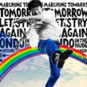 桑田佳祐のシングル曲「明日へのマーチ (NTTドコモ「walk with you 2011」のCMソング)」のジャケット写真。
