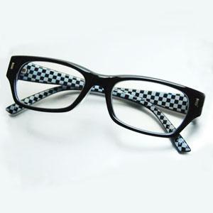 ■40%减輕支持透鏡清除類型[黑×檢查]計算機·智慧型手機的眼鏡藍光,