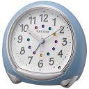 リズム時計◆スワロフスキー付き目覚まし時計【アビスコ】ライト付き 青 8RE653-004/8RE653SR04【楽ギフ_包装選択】.