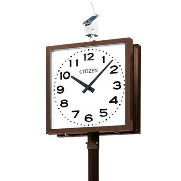 シチズン■屋外用電波時計 ソーラー電波ポール時計【OUTDOOR CLOCK SLシリーズ 角型 2面】750mm角 KSL-752E [代引不可]【ギフト不可】.