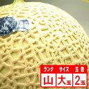 【送料無料】静岡産クラウンメロン2玉「山」 大玉 期間限定 ポイント5倍 1