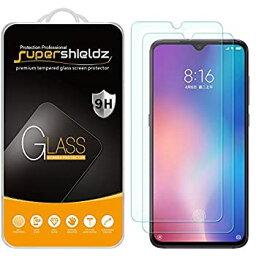 【中古】【輸入品・未使用】Supershieldz Xiaomi Mi 9用 強化ガラススクリーンプロテクター 傷防止 気泡フリー 2個パック