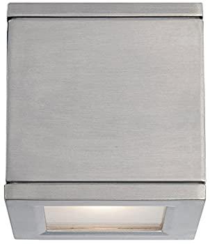 【中古】【輸入品・未使用】WAC Lighting WS-W2505-AL Rubix LED Outdoor Wall Light Fixture Double Light 3000K Brushed Aluminum画像
