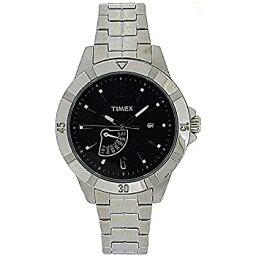 【中古】【輸入品・未使用】TIMEX T2N512AU腕時計 メンズ ブラック アナログダイヤル シルバートーン ブレスレット ストラップ