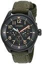 【中古】【輸入品・未使用】[シチズン] Citizen 腕時計 Men's 'Military' Quartz Stainless Steel and Nylon Casual Watch Color:Green 日本製クォーツ BU2055-16E メンズ