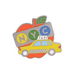 【中古】【輸入品・未使用】WIZARDPINS ニューヨークシティビッグアップルイエロー タクシーキャブお土産ピン
