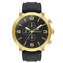 【中古】【輸入品・未使用未開封】AIMANT メンズ 腕時計 マウイ ゴールド ブラック シリコーン ベルト GMU-140SI1-1G