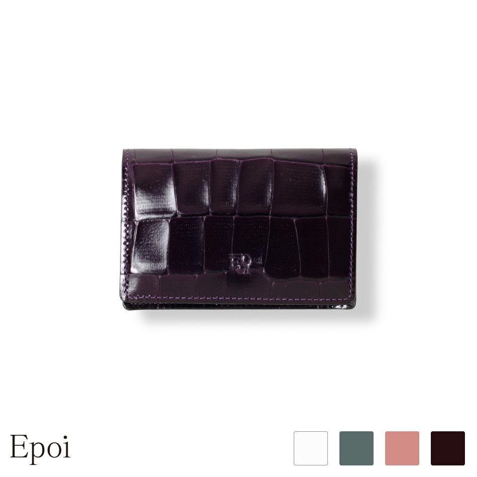 e7c321c78928 【Epoi】 エポイ Tile タイル 名刺入 カードケース 日本製 レディース 革 日本製