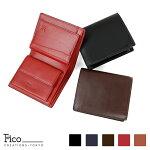 メンズ財布2つ折り財布大型2つ折り財布ficoフィーコPAOLOパオロ