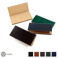 GANZO・ガンゾ・CORDOVAN・コードバン・メンズ・財布・長財布・純束入れ・日本製・本革・ブラック・ダークグリーン・ダークブラウン・ネイビー