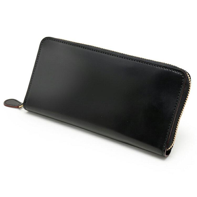 GANZO(ガンゾ)『シェルコードバン2ラウンドファスナー長財布(57593)』